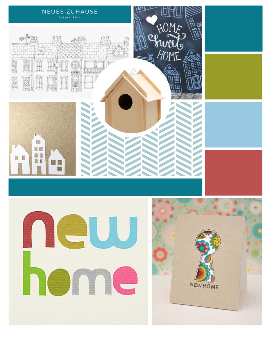 Zuhause gesucht – Postkarten-Entwurf