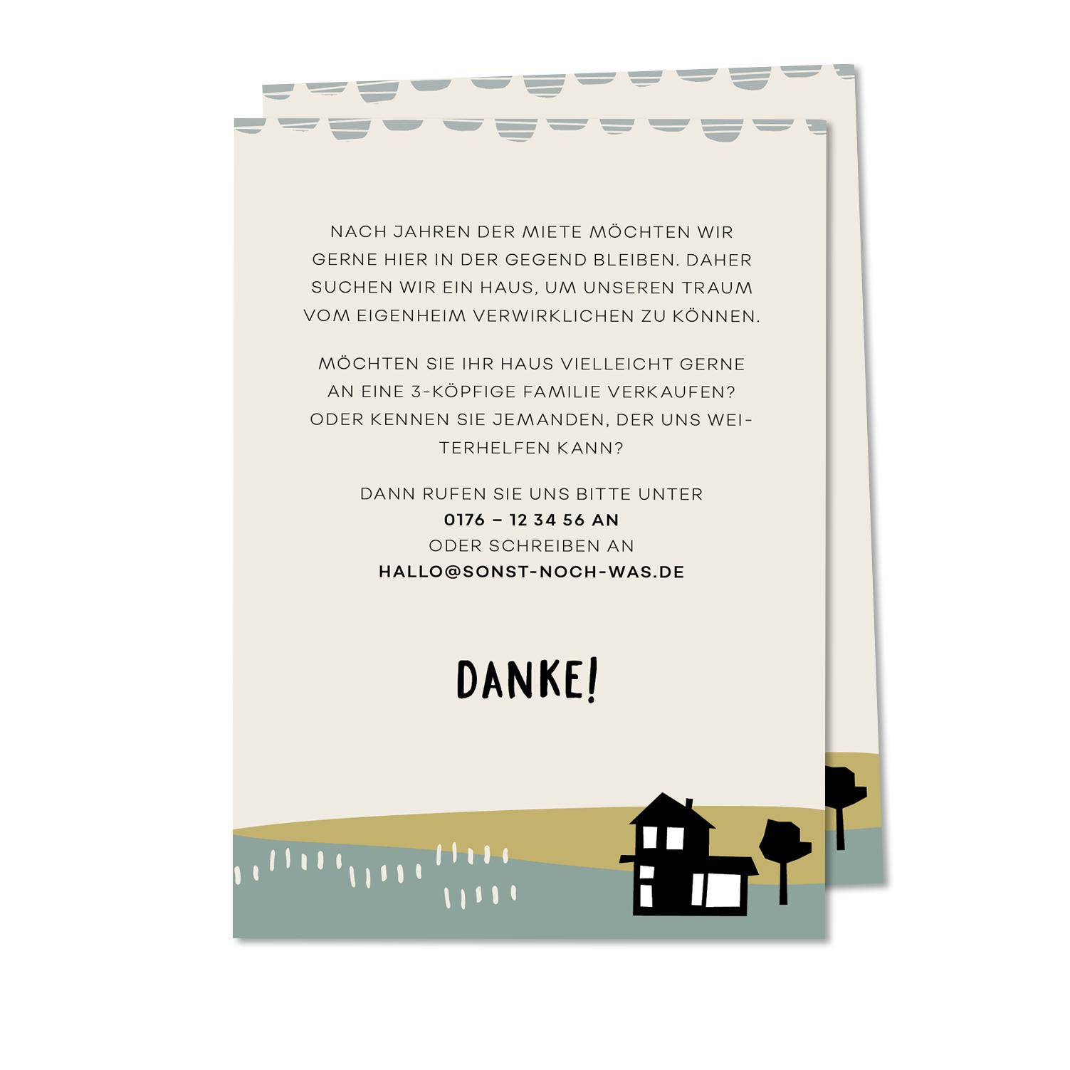haussuche postkarte