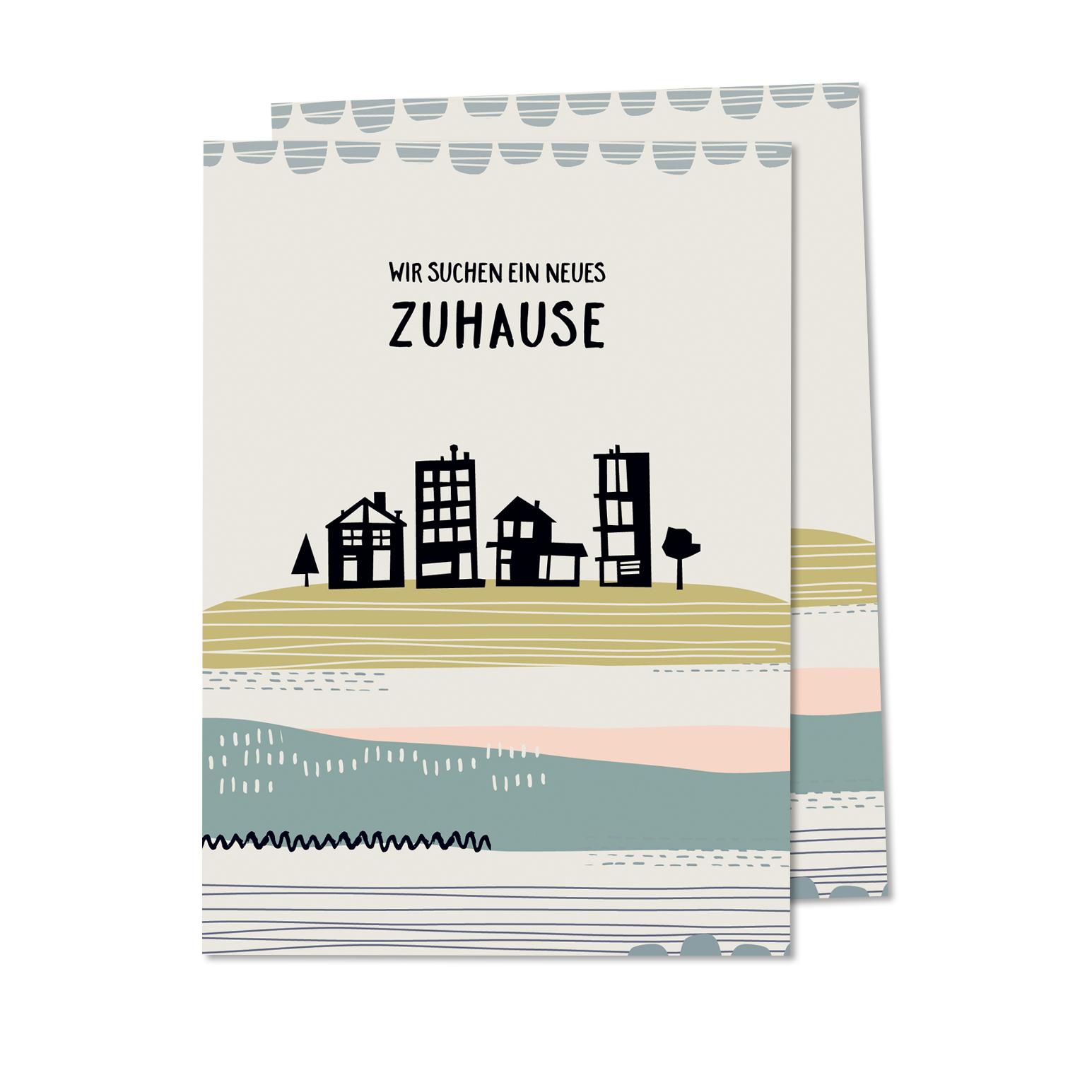 haus gesucht postkarte